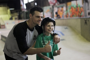 Tas and young skater