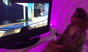 Karen Palmer in front of Syncself2